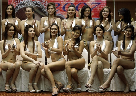 Transsexual beauty contest participants from Philippines