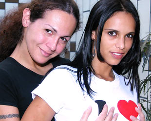 TGirl Nikki,  the webmistress of Latina Tranny (on the left)